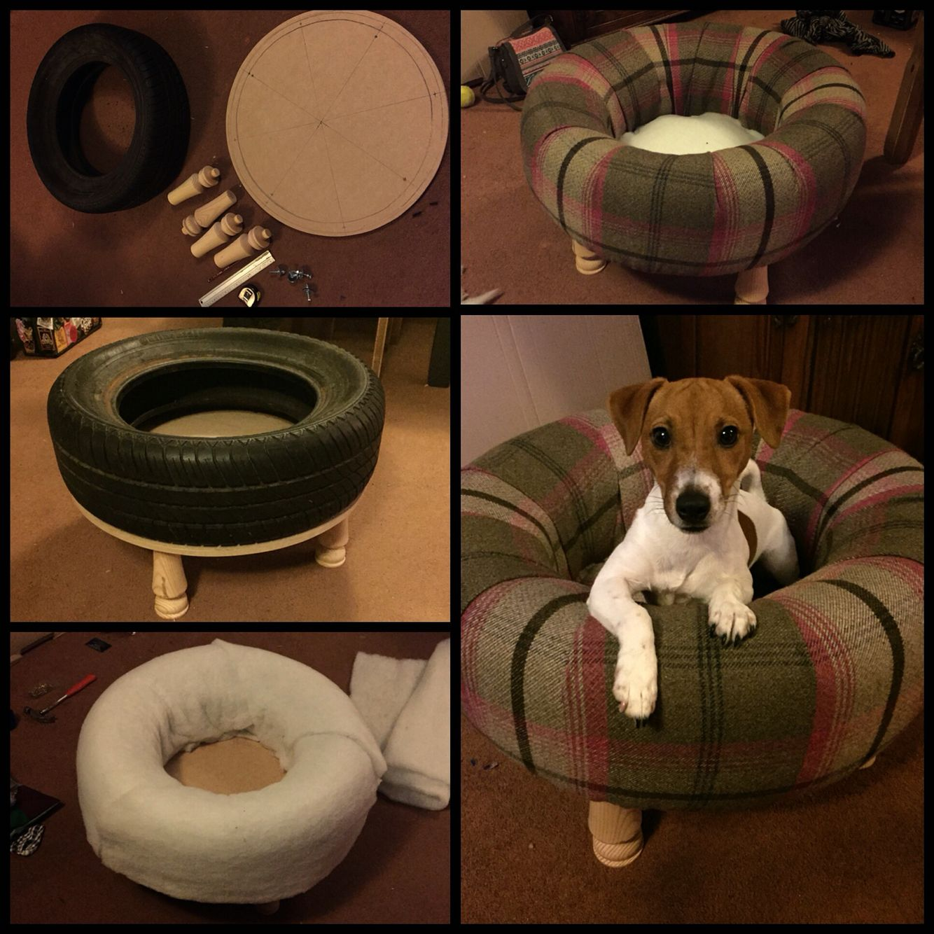 Idee Cucce Per Cani best dog bed ever , using an old car tyre. | cucce di cani