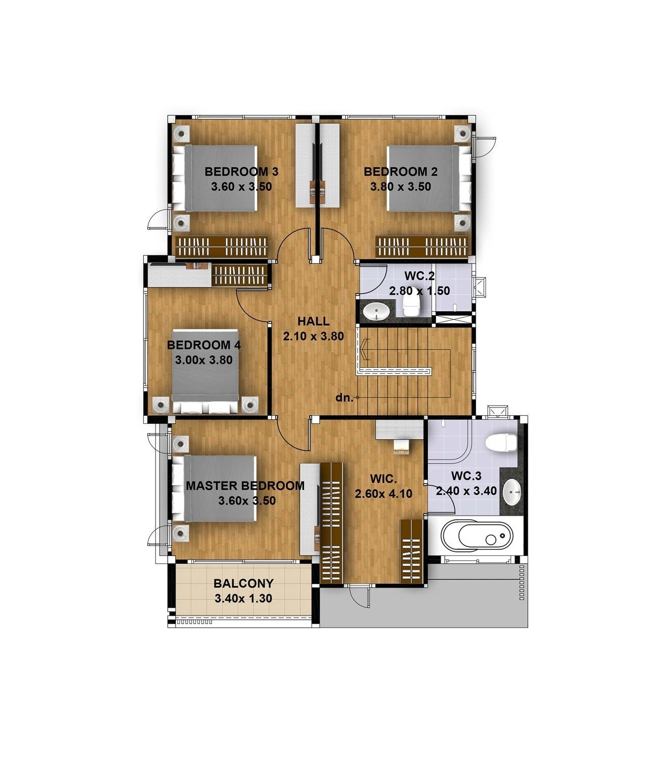 House Design 3d 13x16 With 5 Bedrooms Tiny House Design 3d House Design Tiny House Design Design