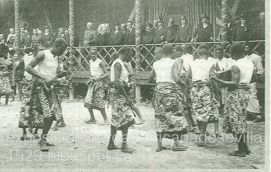 Representacion del KUMBE en la exposión IberoAmericana de 1929 en sevilla