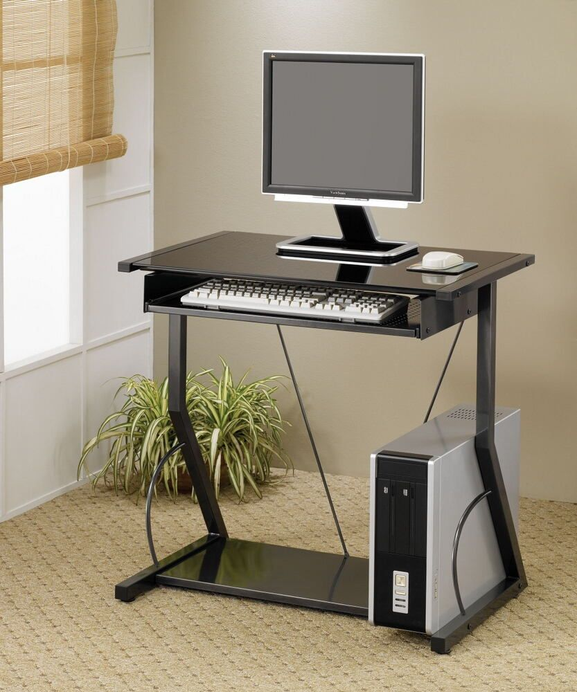 800217 Somerville Alastair Black Finish Metal Frame And Glass Top