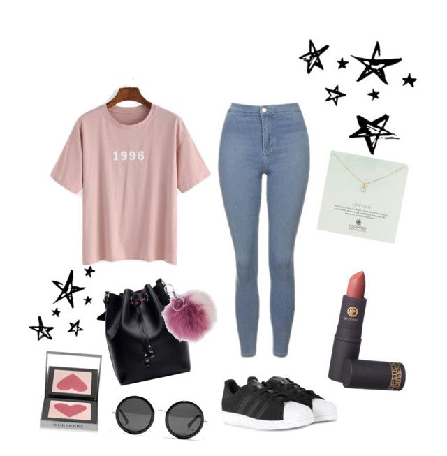 """""""Beoriginal!"""" by gizzx ❤ liked on Polyvore featuring Topshop, Lipstick Queen, adidas, Dogeared, Burberry, The Row and Adrienne Landau"""