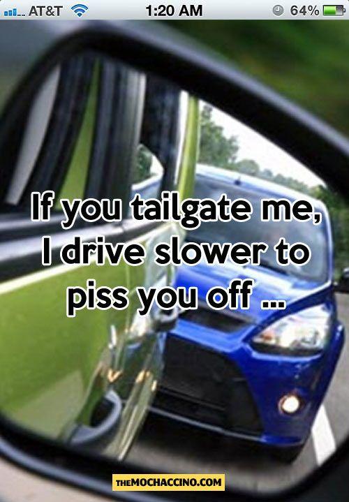 Think, car driv piss road sorry, that