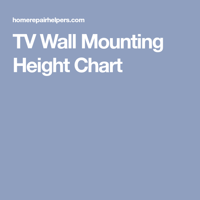 Tv Wall Mounting Height Chart Wall Mounted Tv Tv Wall Tv Height