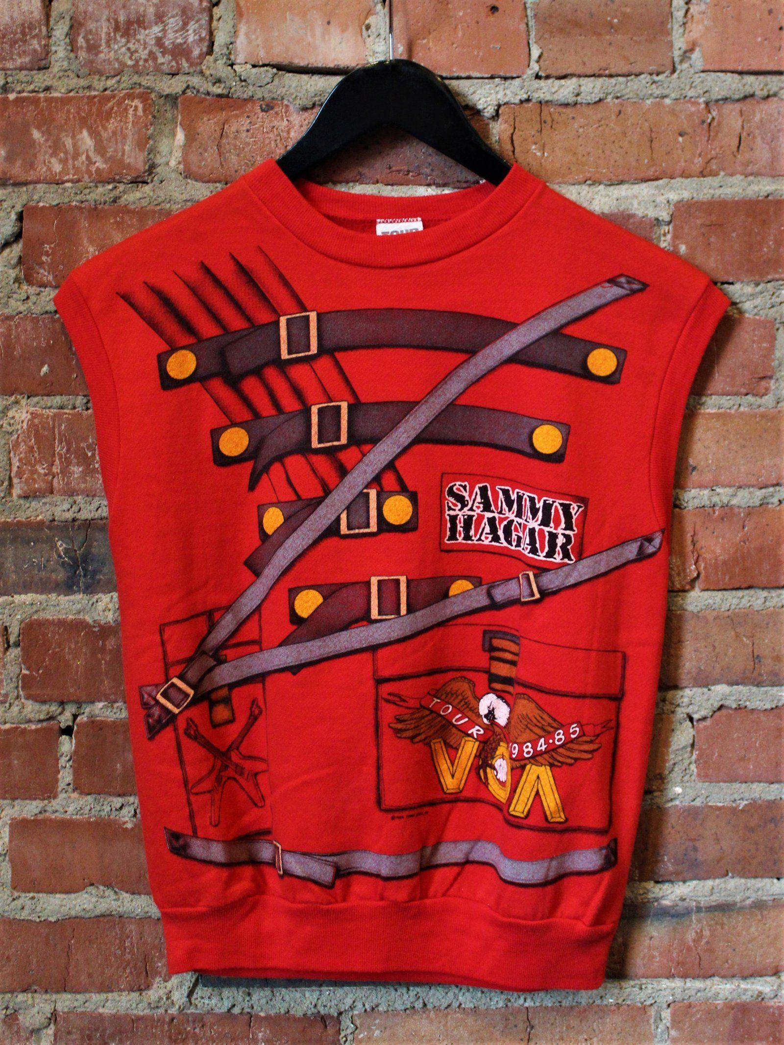 Vintage 1984 Sammy Hagar Voa Tour Muscle Sweatshirt Concert T Shirt Concert Tshirts Sweatshirts Shirts