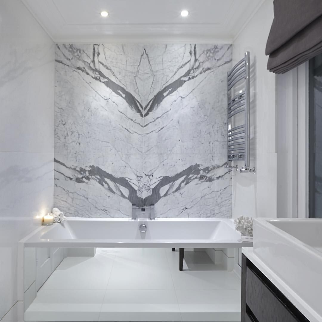 Statement marble in the master bathroom at our latest Chelsea ...