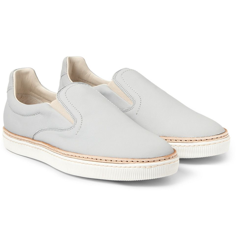Minimal + Classic: Maison Martin Margiela - Leather Slip-On Sneakers