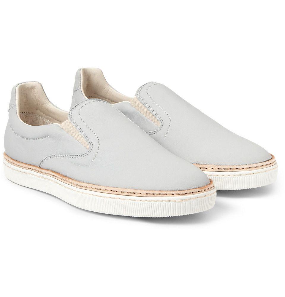 Minimal + Classic: Maison Martin Margiela - Leather Slip-On Sneakers