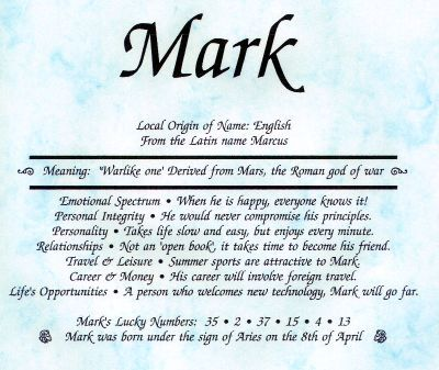 Mark Names with meaning, Baby names and meanings, Baby