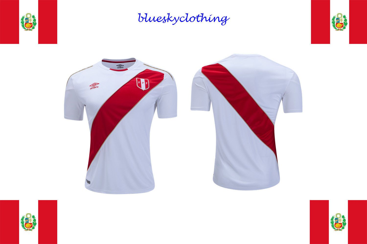 57a74ca3c Peru Home Soccer Jersey World Cup Russia 2018 Discount Price 59.99 Free  Shipping Buy it Now