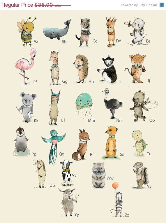 Alphabet Poster Animals Poster Abc Animals Alphabet Print Abc Nursery Kids Decor Alphabet Poster Nursery Wall Art Nursery Decor Alphabet Poster French Alphabet Animal Posters