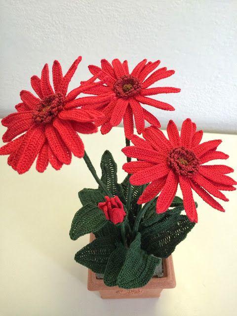 Il Blog Di Sam Spiegazione Della Gerbera All Uncinetto Blumen