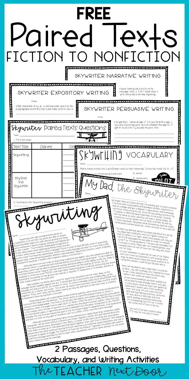 Paired Texts Freebie For 4th 6th Grades Paired Passages Freebie In 2020 6th Grade Reading Reading Comprehension Worksheets 3rd Grade Reading