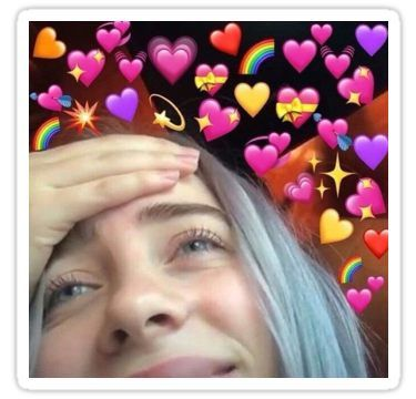 Billie Eilish Love Sticker Billie Eilish Billie Cute Love Memes