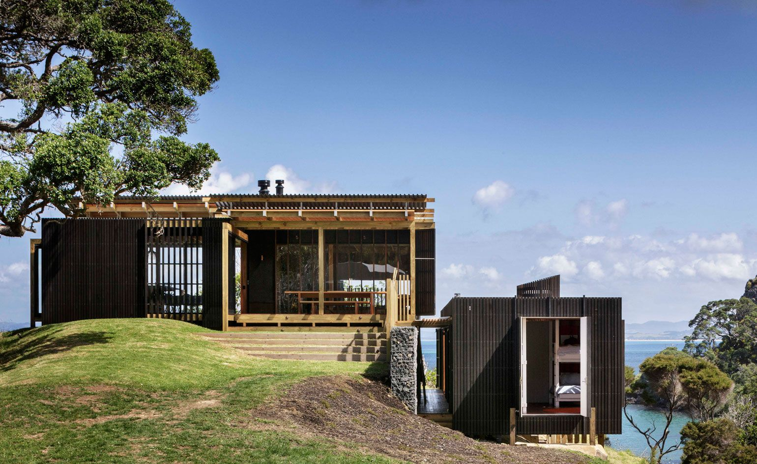 Modern Architecture New Zealand herbst architects' sensitive retreat invites new zealand's great