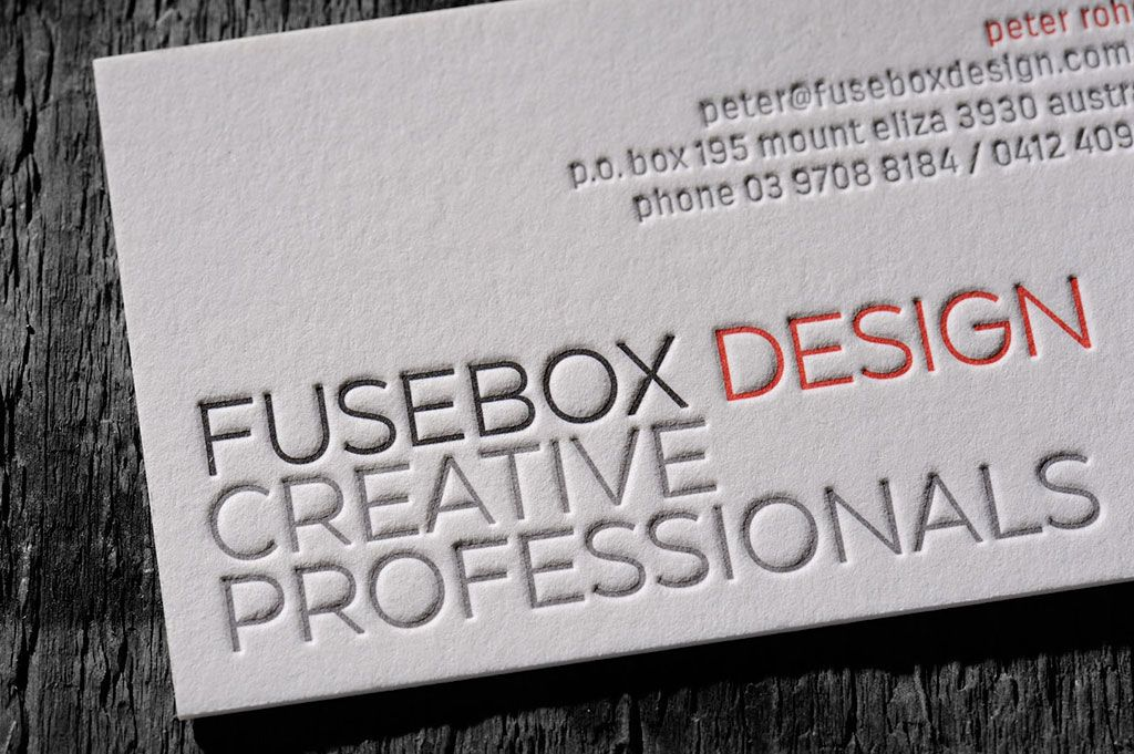 Letterpress Business Cards Chapel Press Letterpress Printers