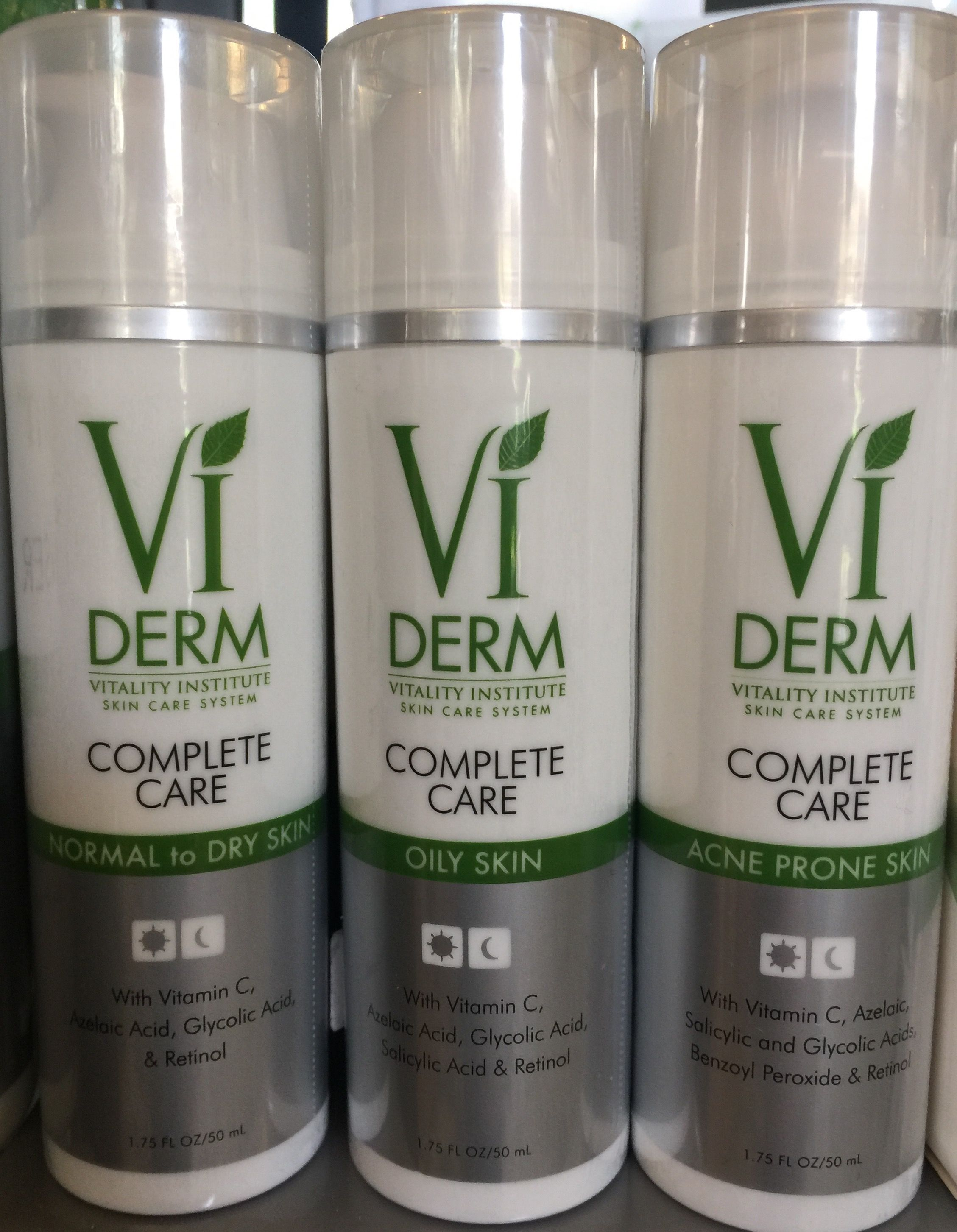 Vi Derm Complete Care Active Ingredients For All Skin Types Dry Oily Skin Complete Skin Care Skin Care System