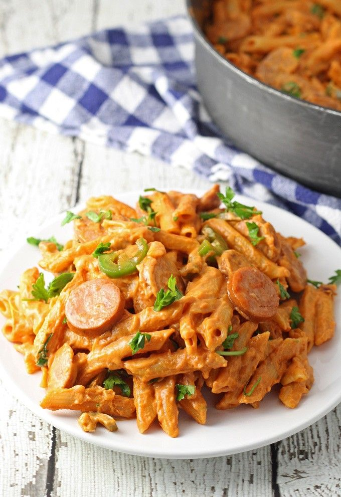 One pot spicy sausage skillet honey and birch recipes for Ideas para cocinar pasta