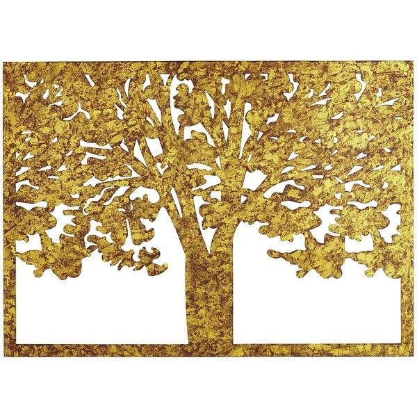 Pier 1 Imports Gold Etched Metal Tree Silhouette Wall Decor (125 CAD ...