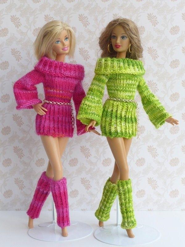 7 Strickanleitungen Puppenkleidung Serie \