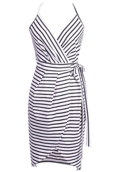Wrap Dress with Straps - FREE pattern | Sewing Clothing | Pinterest ...