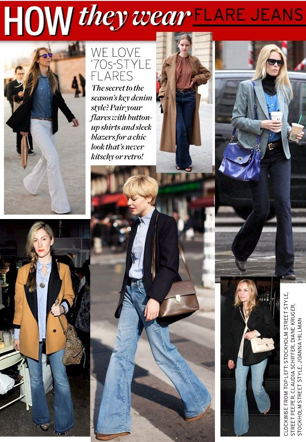 the flare jean trend street style | To read about suggested wide leg jeans  (including - The Flare Jean Trend Street Style To Read About Suggested Wide