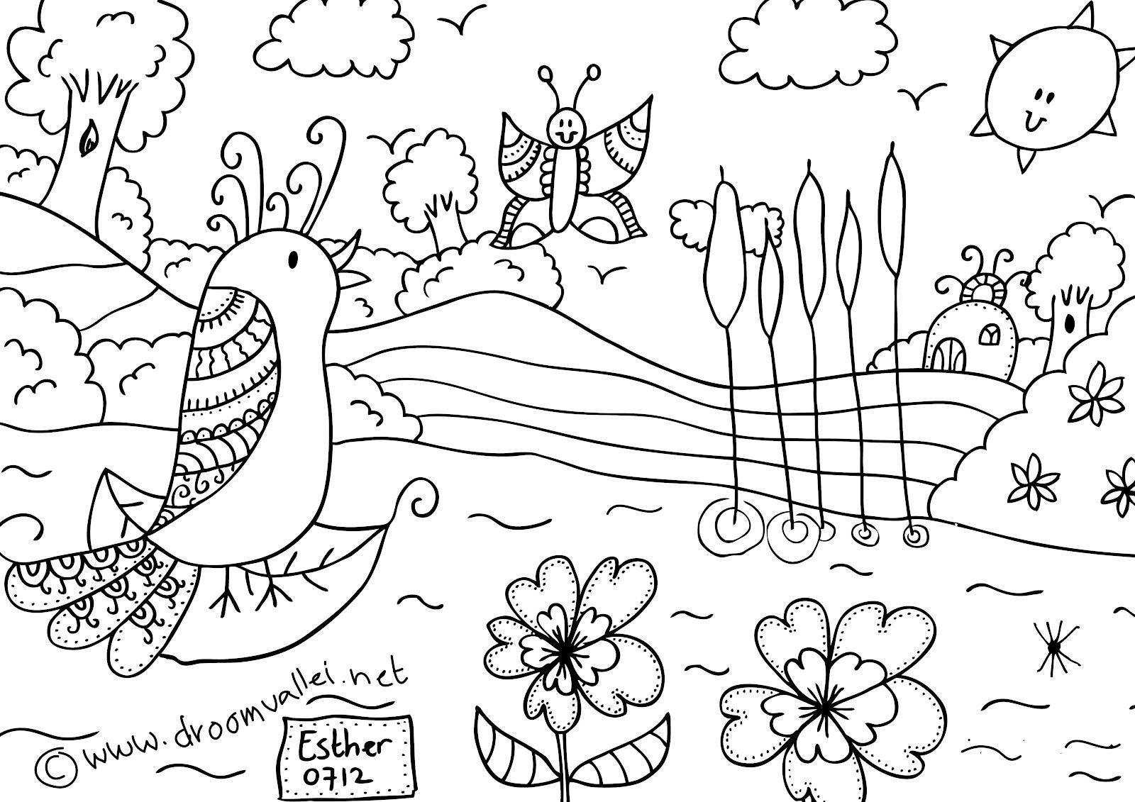 Creatieve Tijd Voor Jezelf Workshops En Boeken Droomvallei Kleurplaat Vogel Vera Dibujos Para Colorear Mandalas Colores