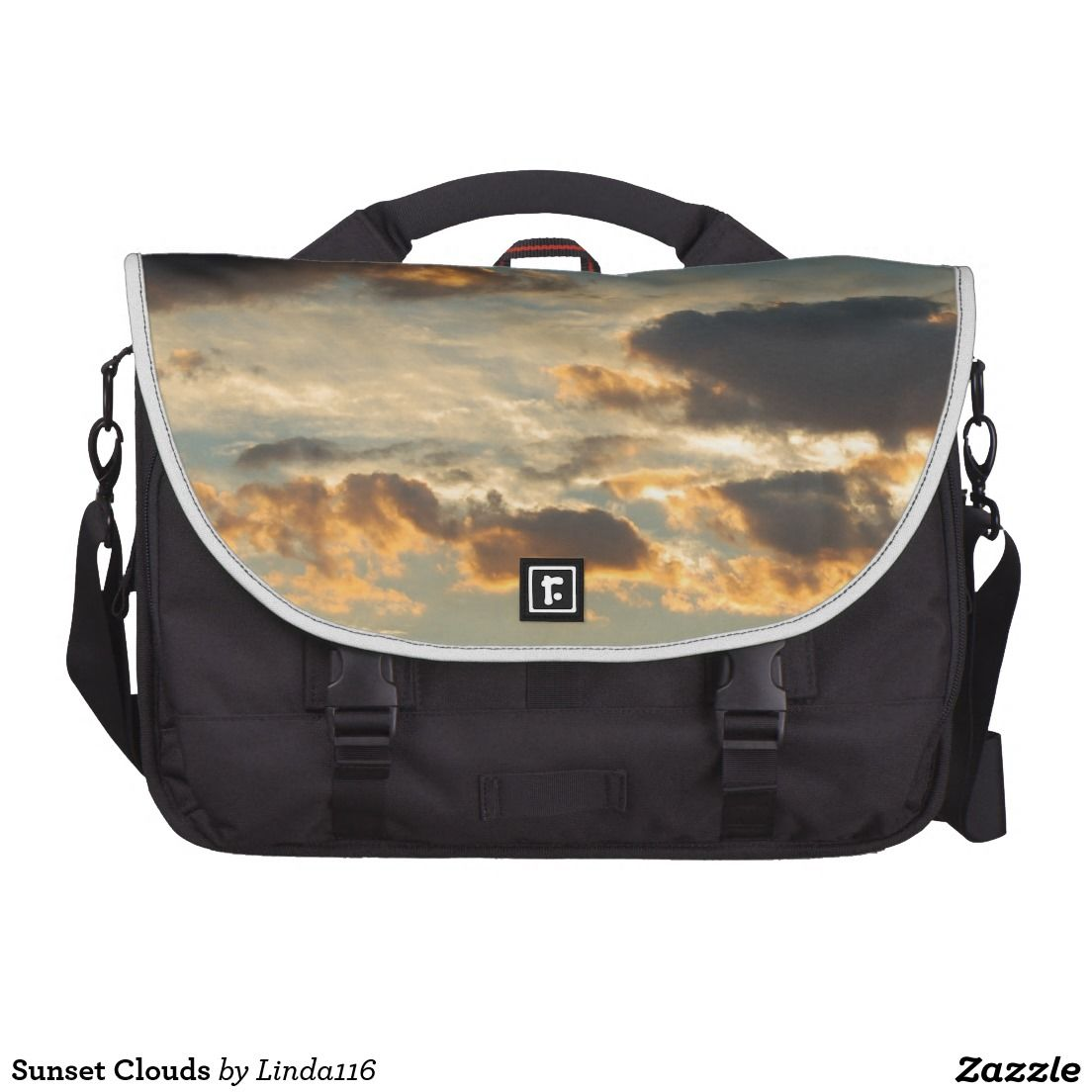 Sunset Clouds Laptop Messenger Bag