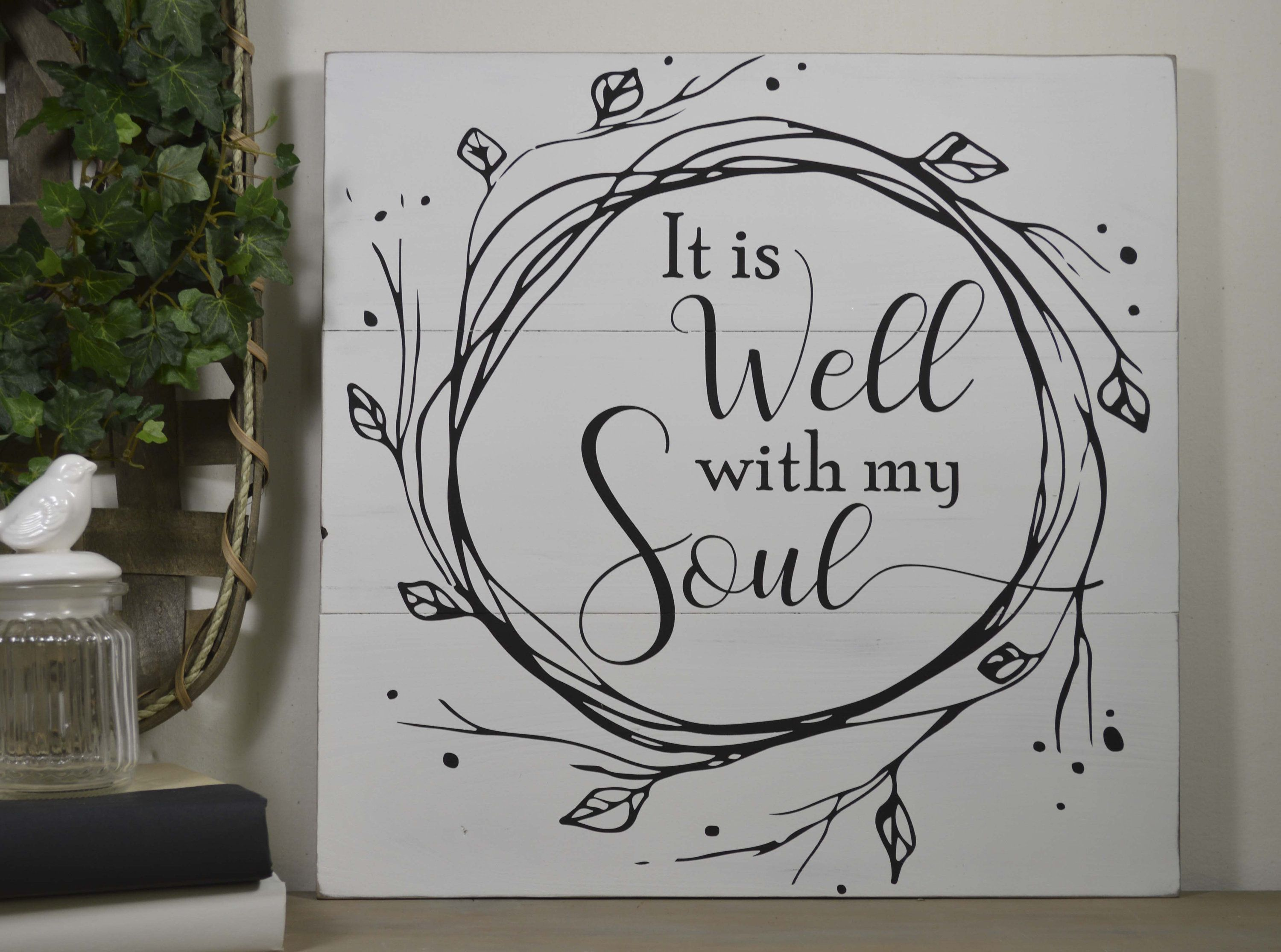 It Is Well With My Soul Wood Sign Inspirational Farmhouse Etsy Wood Signs It Is Well With My Soul Hymn Wall Art
