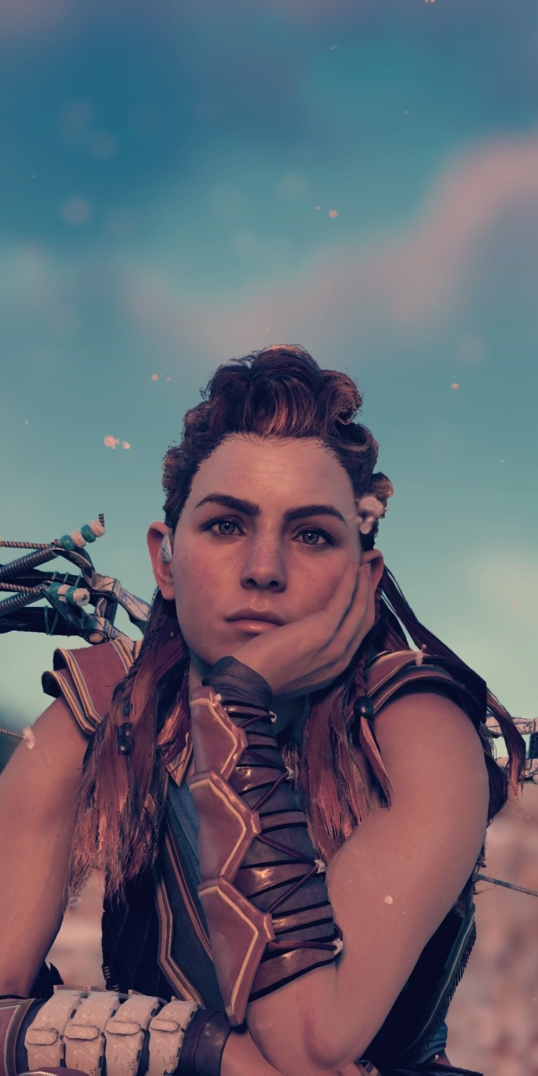 Artwork, Aloy, archer, video game, 2019, Horizon Zero Dawn, 1080x2160 wallpaper