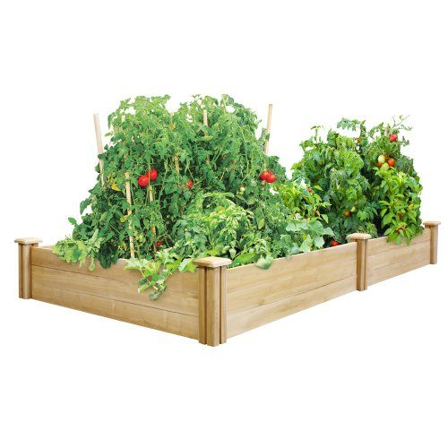 Greenes 4 Ft. X 8 Ft. X 10.5 In. Cedar Raised Garden Bed - Made in the USA from naturally rot- and insect-resistant cedar. The wood is 100% chemical free.