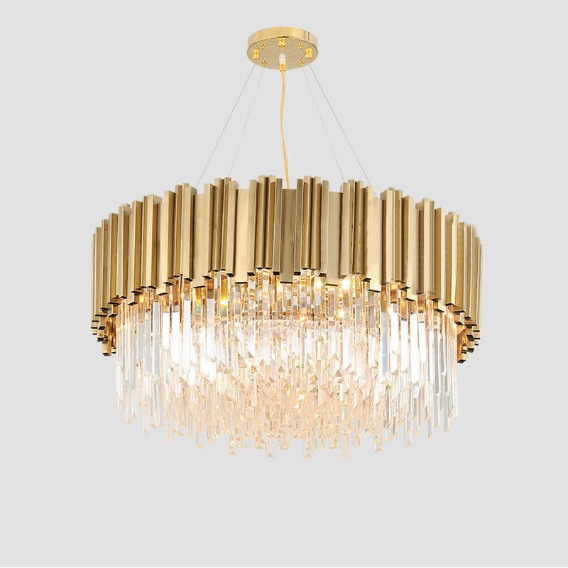 Luxury Golden Ceiling Pendant Light Modern Crystal Chandelier For Villa Simig Modern Crystal Chandelier Crystal Chandelier Bedroom Crystal Chandelier Dining Room