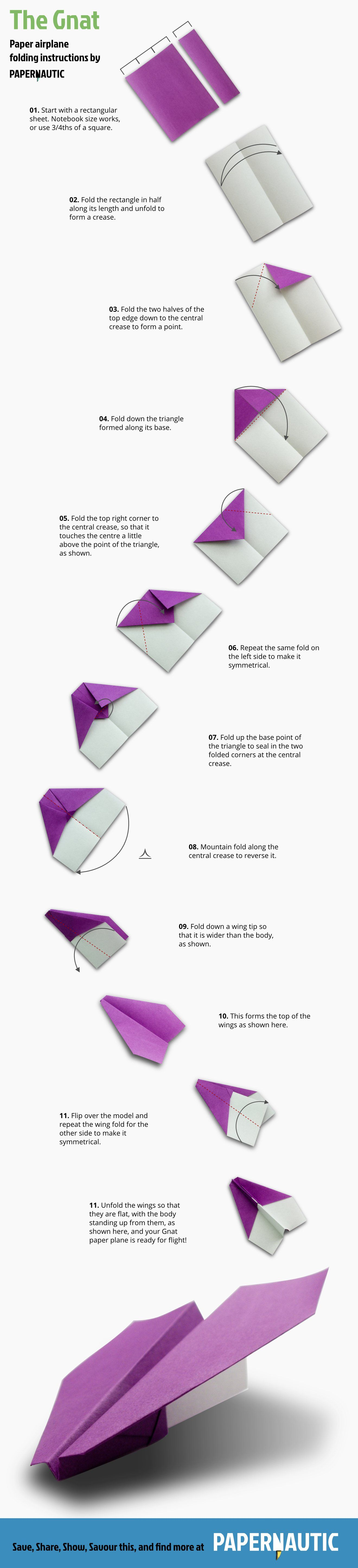 Paper Plane Folding Instructions A Procedural Infographic That Also Has Pleasing Form