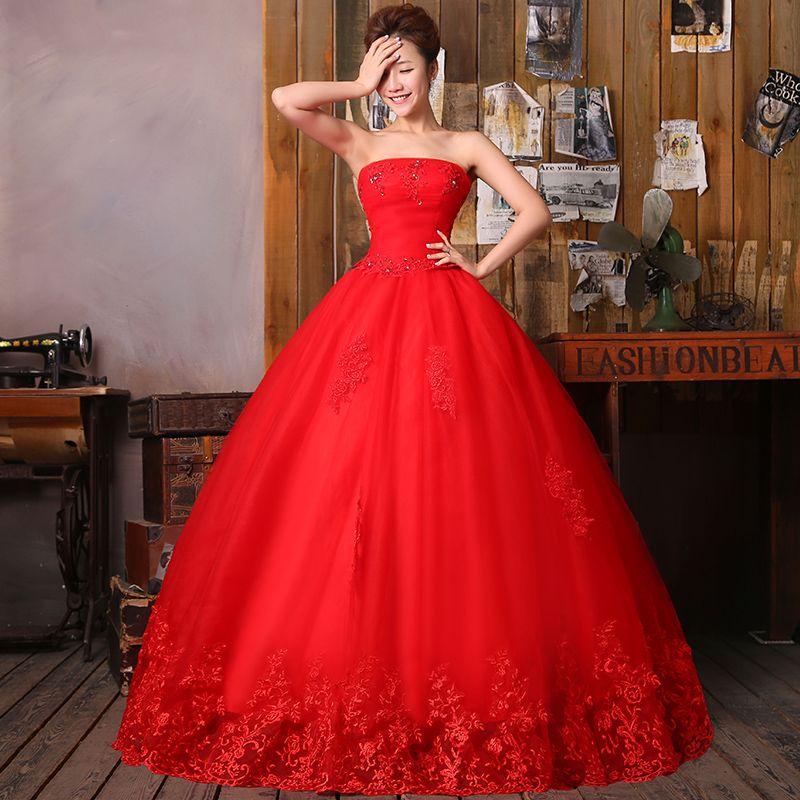 Plus Size Red Wedding Dresses | Red plus size wedding dress 2014 ...