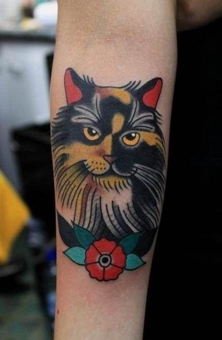 Super Tattoo Old School Leg Colour Ideas #tattoo
