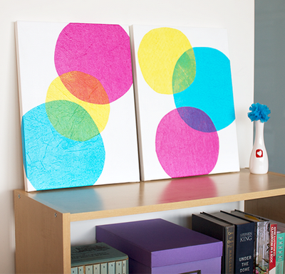 Make your own CMYK wall art   Tissue paper, Canvases and Walls