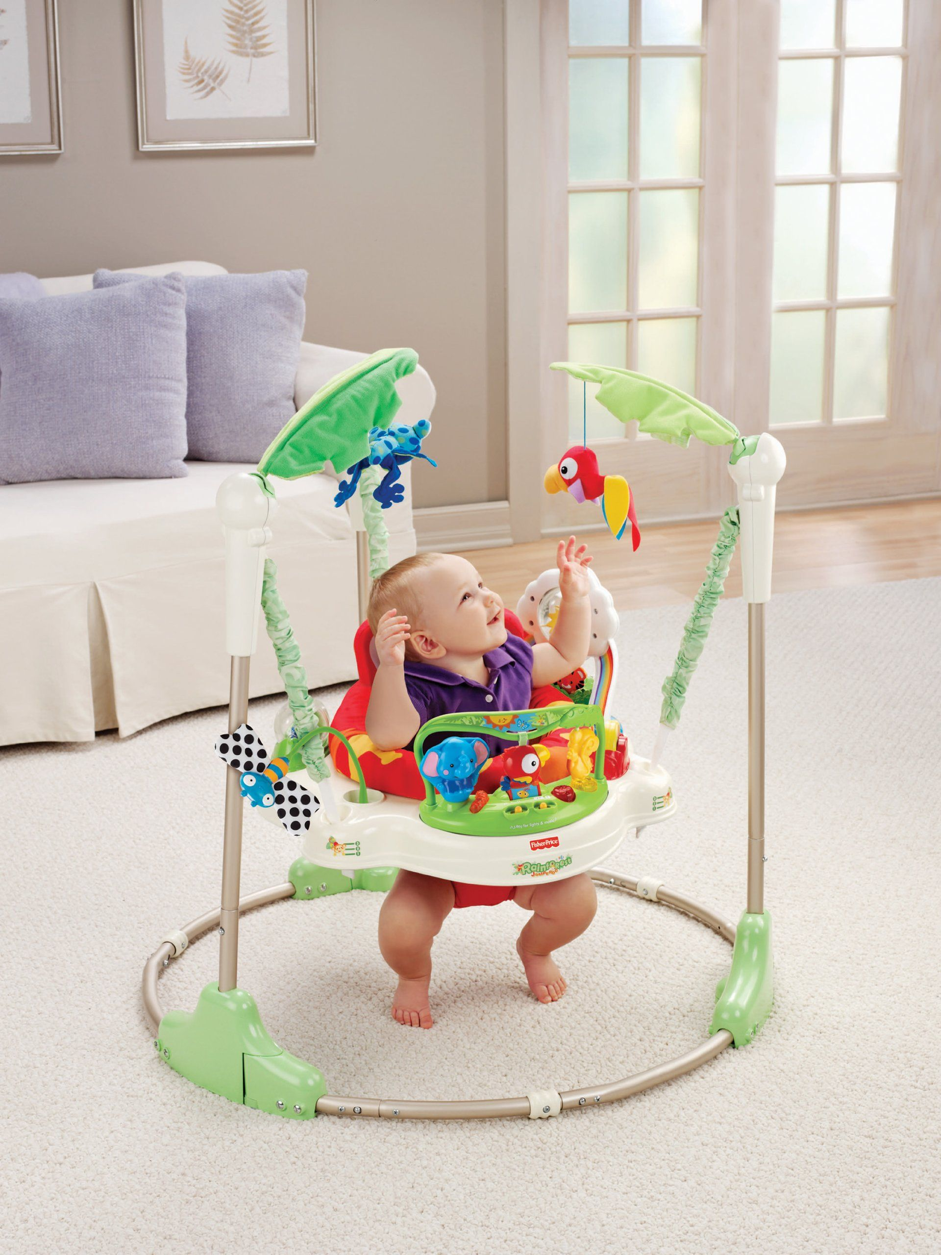 87dff3be58c Amazon.com : Fisher-Price Rainforest Jumperoo : Infant Bouncers And ...