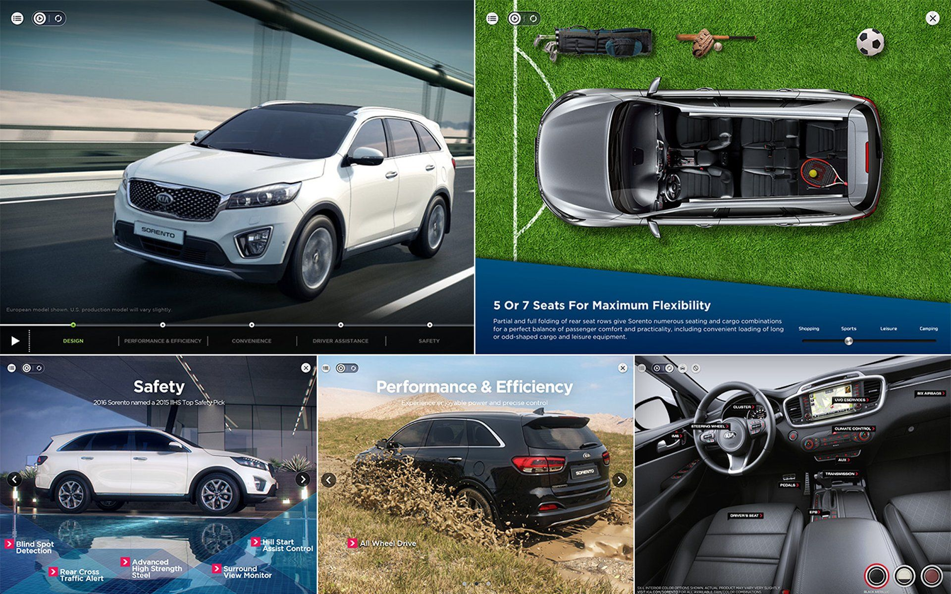 Interact And Customize The Kia Sorento Of Your Dreams With The