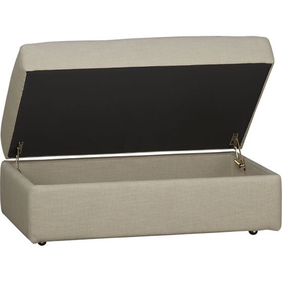 Lounge Storage Ottoman With Casters In Ottomans Cubes Crate And Barrel