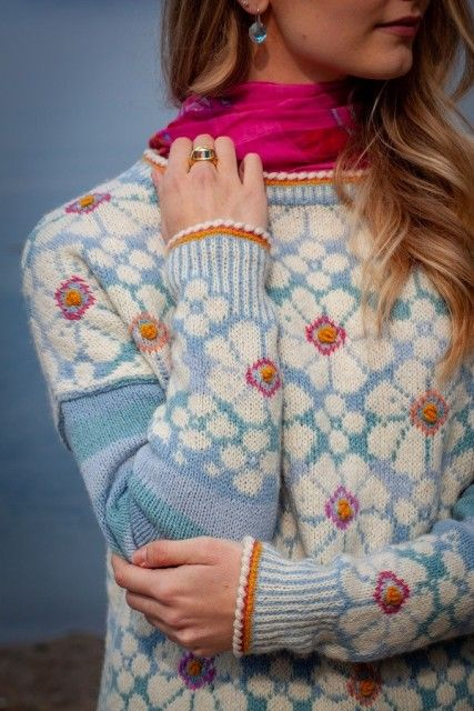 Photo of Vårblomst genser | Garnpakker med strikkeoppskrifter fra Sidsel J. Høivik