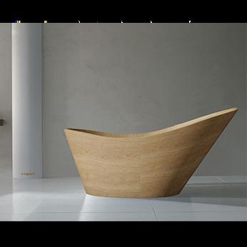 luxurious italian wooden bath tub - queen | wooden bath