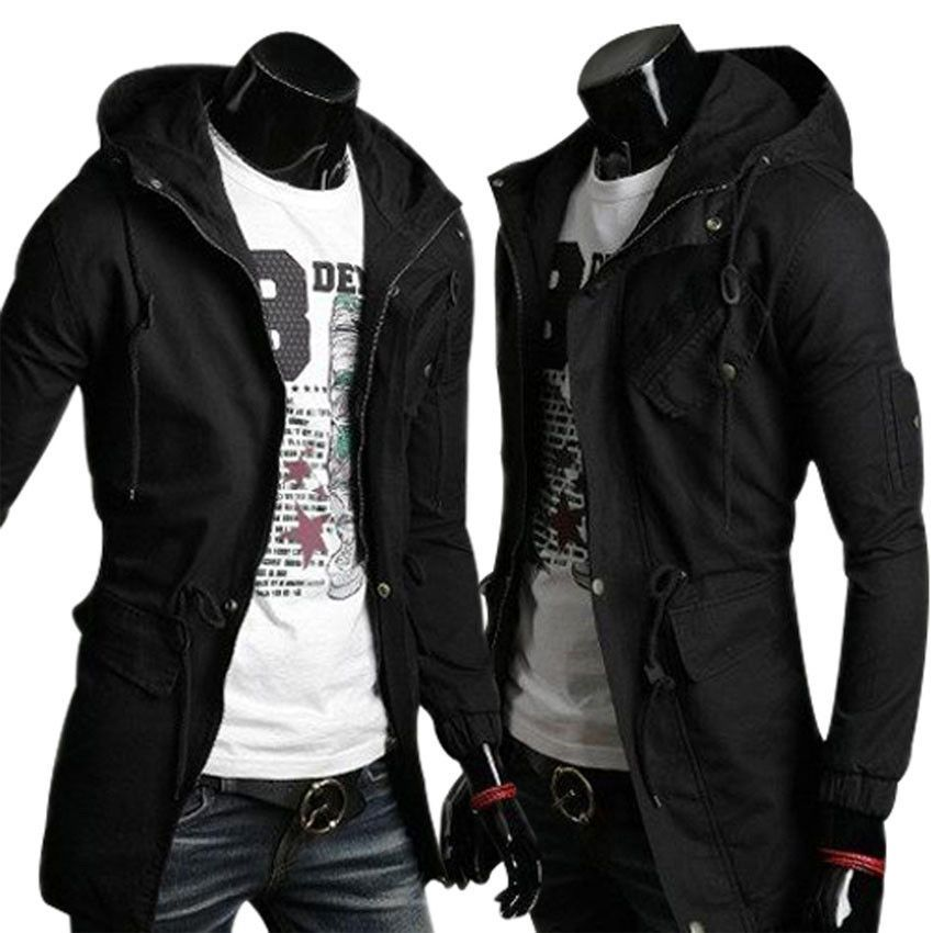 6cb2d02a1c7996 High Quality Cotton Trench Coat Men Fashion Slim Men s Jackets Outerwear  Casual Windbreaker Mens Trench Coat Overcoat Casacos