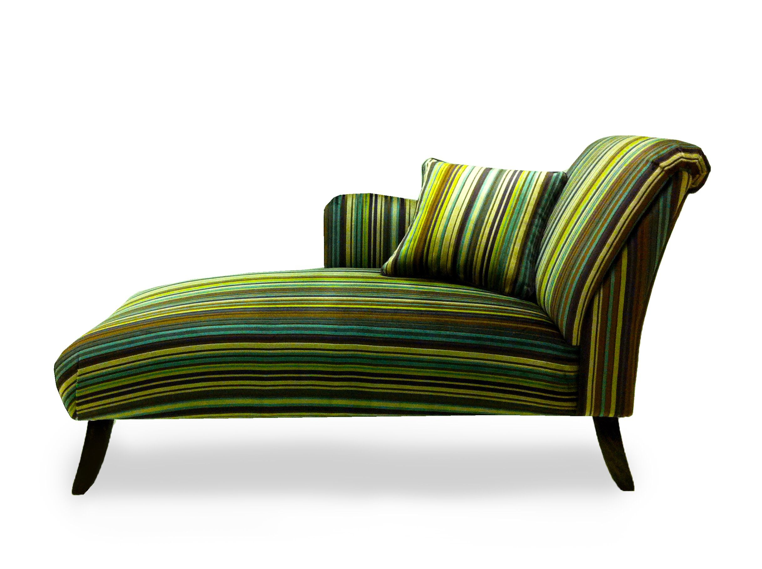 Chaiselongue Modern This Funky Green Velvet Fabric Stands Out On Our Bespoke Modern