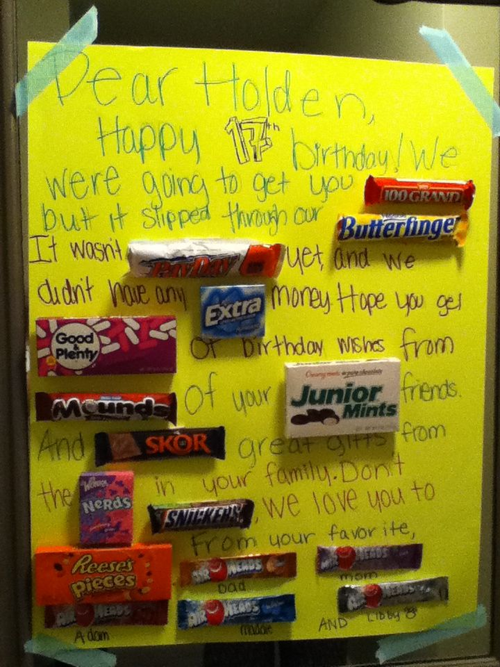 happy birthday posters with candy