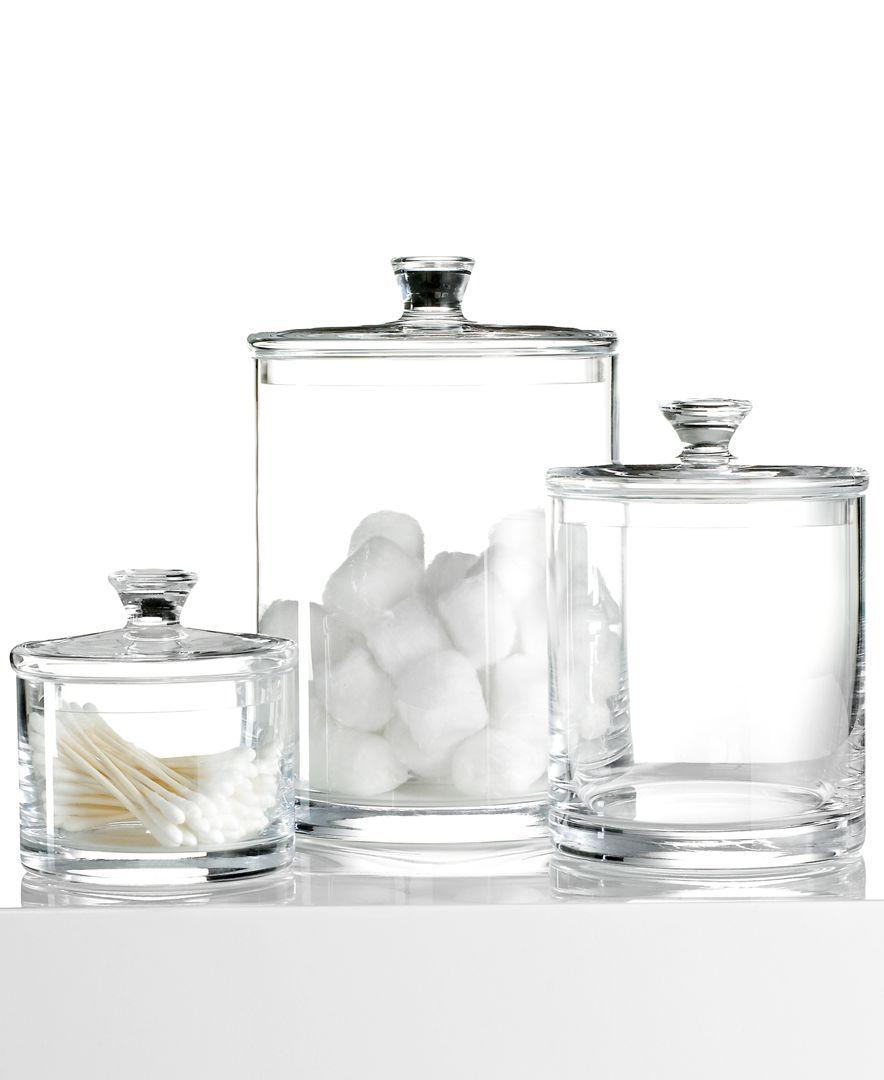 Hotel Collection Small Glass Jar Bathroom Accessories Bed Bath Macy S Glass Jars Large Glass Jars Small Glass Jars
