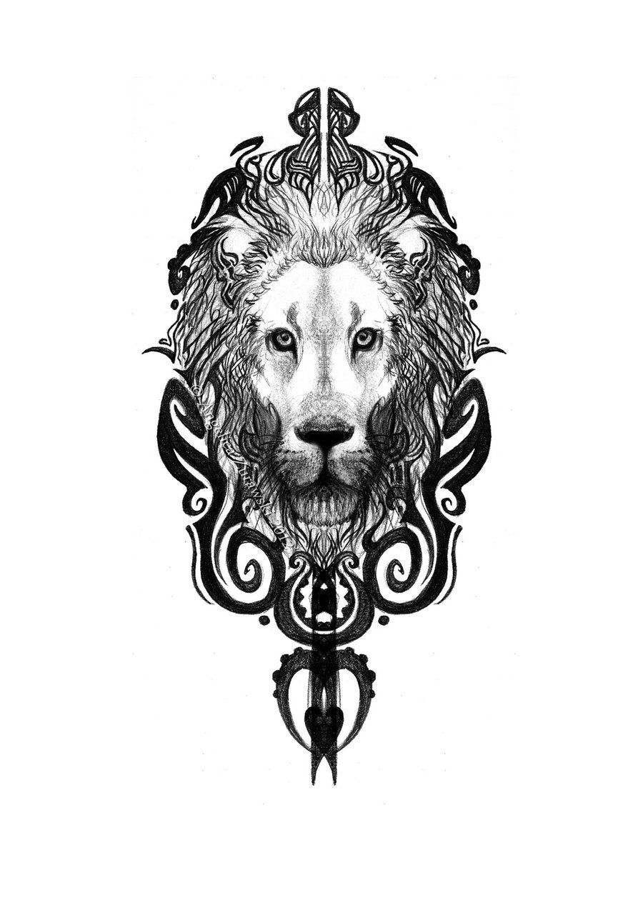 Maori Lion Lion Head Tattoos Lion Tattoo Lion Sketch