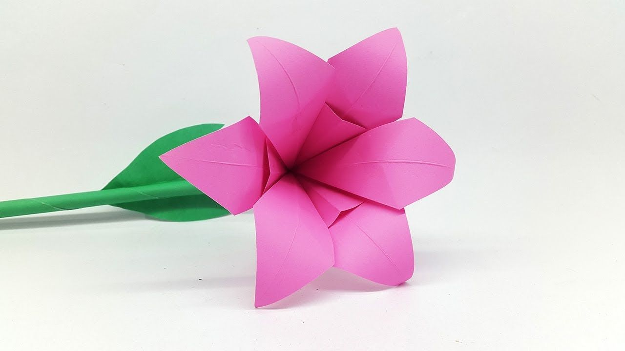 How To Make Lily Paper Flower Origami Flowers For Beginners