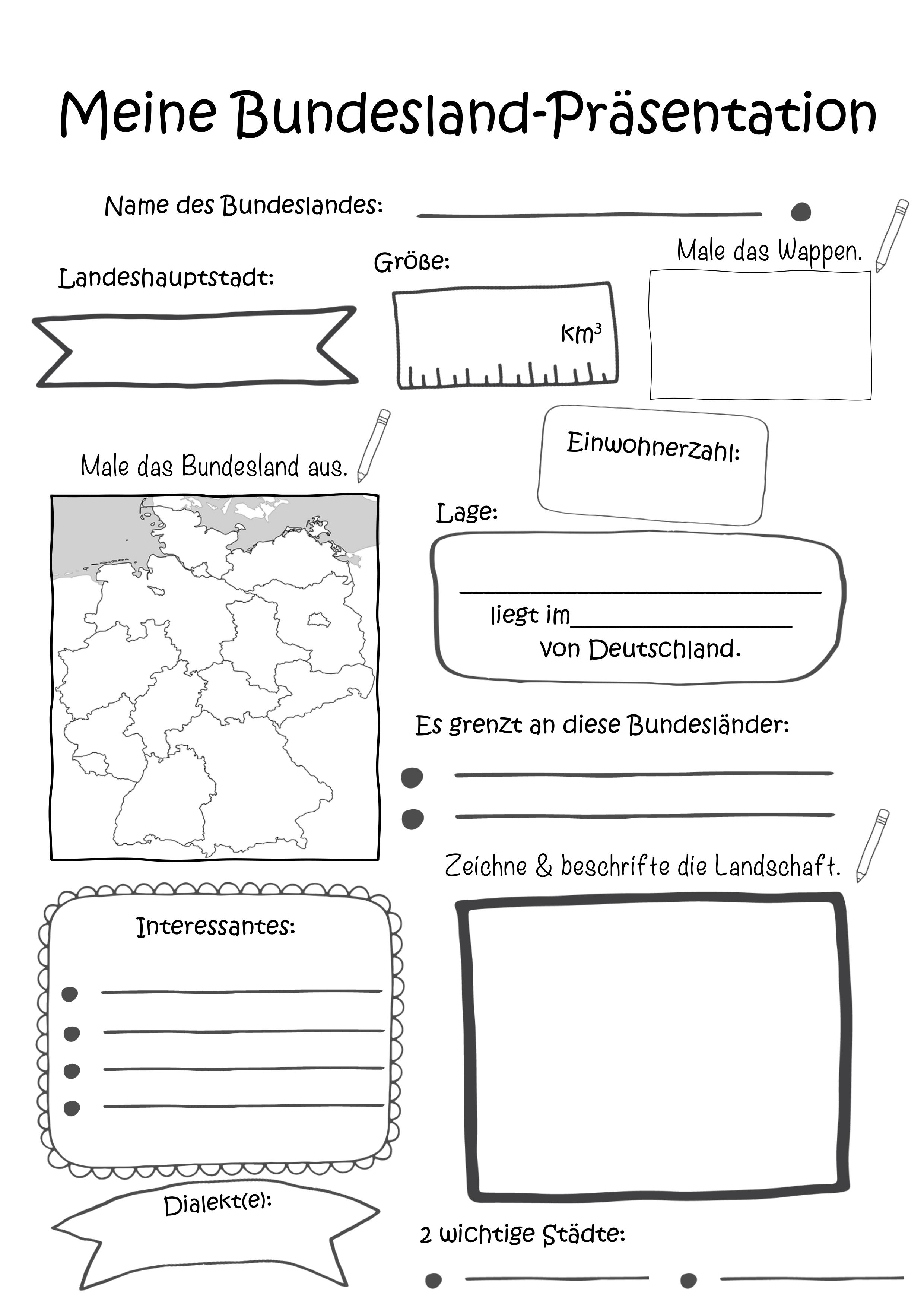AB Meine Bundesland Präsentation – Unterrichtsmaterial in den ...