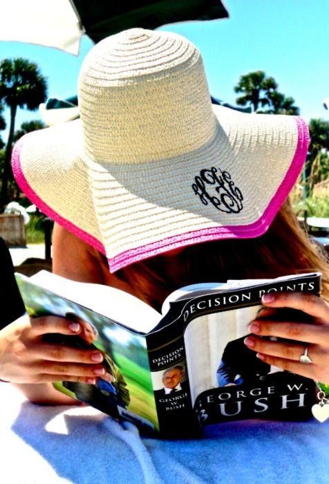 Monogram beach hat.