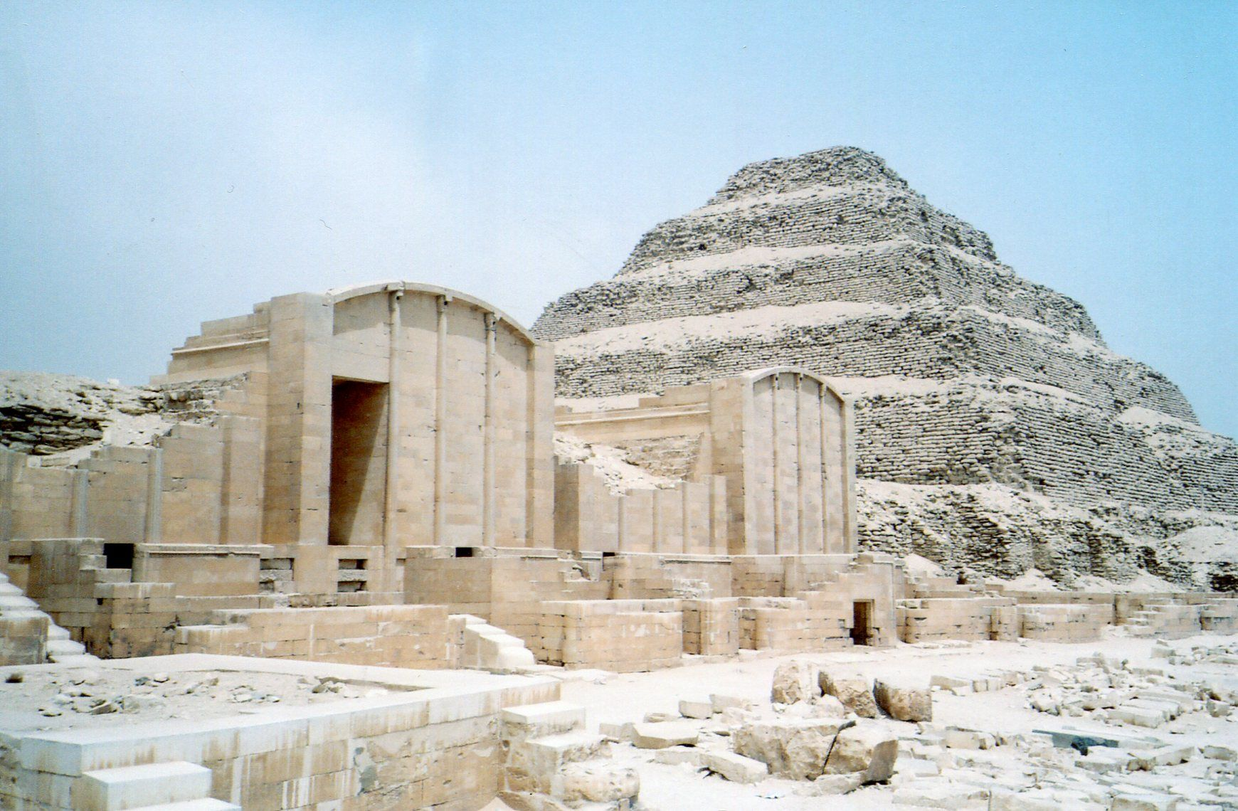 Saqqara is one of the most extensive archaeological sites