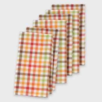 The Big One 6 Pk Harvest Plaid Kitchen Towel Set Kitchen